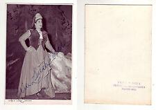 NACHE Maria Luisa, autografo della soprano su foto in b/n, anni '50