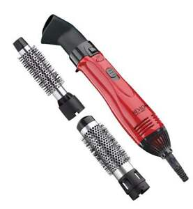 Revlon Perfect Heat Ceramic Hot Air Kit Brush, Red  3 Attachments