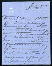 PRINCESS HELENA LETTER TO SIR HAMILTON GOOLD ADAMS GOVERNOR OF CYPRUS 1911
