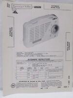 Vintage Sams Photofact Folder Radio Parts Manual Automatic Model TT528