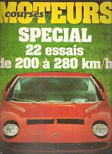 MOTEURS 97 1972 SPECIAL 22 ESSAIS DE 200 à 280KM/H GP ESPAGNE FRANCE MONACO ALLE