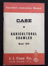 1958 Case 1010 Agricultural Crawler Tractor Operators Manual Nos Near Mint