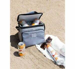 Fulton Bag Co. Beer-Soda 9 Can Cooler with Liner -Gray