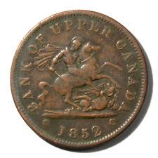 Canada Ontario -Bank of Upper Canada Penny Token 1852  VF KMTn3 Breton-719