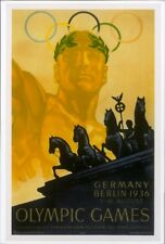 VINTAGE 1936 XI OLYMPIC Games #11 Poster BERLIN Germany RICHARD SIMON Re-Strike