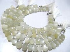 Natural White Moonstone Pear Shape Beads , 7x12mm Briolette Beads,Strand 8 Inche