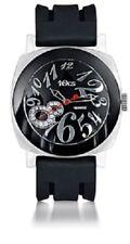 Tocs 40001 Black Rubber Strap Acrylic Case Black Dial Dress Watch