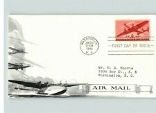 C-25 AIRMAIL, 6 cent Plane, 1941 First Day of Issue by Day Lowry, sent to Mr. Sh