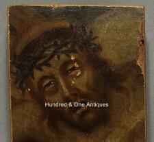 Antiqique 18th century Painting Thorn Crowned Head of Jezus Christ Old Master