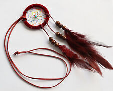 Long Dream Catcher Feather Necklace Jewelry - Tribal, Gypsy, Bohemian, Hippie