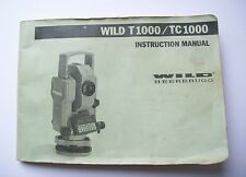 Wild Heerbrugg Leica T1000 TC1000 Instruction Manual Digital copy emailed as PDF