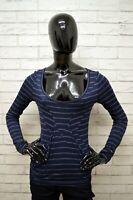 Maglia TOMMY HILFIGER Donna Taglia S Shirt Woman Manica Lunga Elastica A Righe