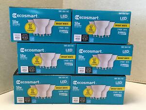 EcoSmart 50W Bright White Bulbs -MR16 GU10 -Dimmable - 18 Bulbs: 6 pks of 3 -NEW