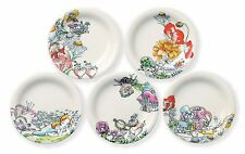 Disney Alice in Wonderland Small plate set 5 Mad Hatter Cheshire cat Japan NEW