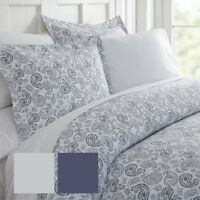 Hotel Collection Premium Ultra Soft 3 Piece Coarse Paisley Print Duvet Cover Set