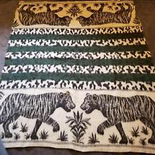 "Vicuna Llama Alpaca Blanket Peru 1950s Tiger Blanket Full Throw Reversible 87"""