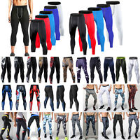 Men Joggers Tight Compression Skin Base Layer Gym Leggings Sports Trousers Pants