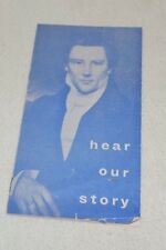 """Hear Our Story"" Vintage Mormon Informational Pocket Booklet"