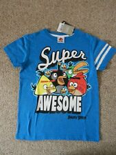 BNWT Next Angry Birds The Flock Super Awesome Bright Blue T-shirt Age 9 Years