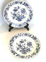 "3 Nikko Ming Tree Blue 7.25"" Dessert Salad Plates Double Phoenix Chinoiserie"