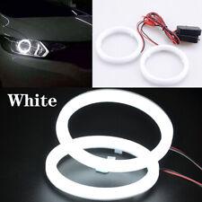 Pair 90mm DRL COB LED Angel Eyes Halo Ring Fog Headlight Lamp Light White
