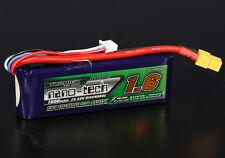 New Turnigy Nano-Tech 1600mAh 3S 11.1V 25C 50C Lipo Battery Pack XT60 XT-60 US