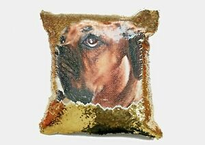 Personalised Photo Sequin Cushion Cover Magic Reveal printed with your picture
