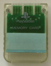 PS1 Memory Card Original Sony Playstation transparent SCPH-1020 Speicherkarte