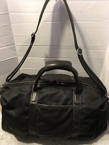 Coach Black Nylon Leather Metropolitan Duffel Carryon Weekender Large