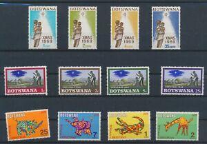 LO08640 Botswana christmas holidays fine lot MNH