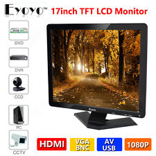 "Eyoyo 17"" Monitor 1080P Full HD LCD TFT USB VGA HDMI BNC AV For CCTV DVR PC Fast"