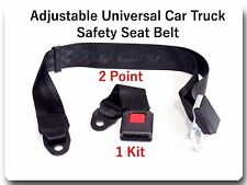1 Kit Adjustable Universal Car Truck 2 Point Seat Belt Lap Safety Belt