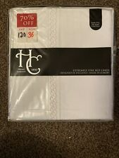 Christy Chelsea White Superking Flat Sheet 100% Cotton 300TC