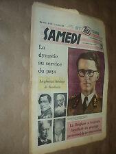 SAMEDI 396 (17/12/60) LE ROI BAUDOUIN LOUIS ARMSTRONG MICHEL DE GHELDERODE