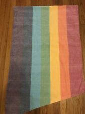 "Girasol Handwoven Baby Wrap Rainbow ""Glace"" 100% Cotton Size XL"