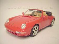 BBurago Porsche 911 Carrera Cabriolet 993 rot 1:18