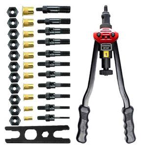 "Rivet Nut Gun Kit Rivnut Setting Tools Nut Setter Tool Hand Blind Riveter 16"""