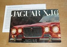 Jaguar XJ6 Series 1 Multilingual Brochue 1968 With Specification Sheet