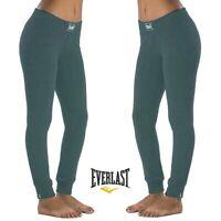 Pantalone donna EVERLAST sport XL felpa inverno polsino leggings e joggers verde