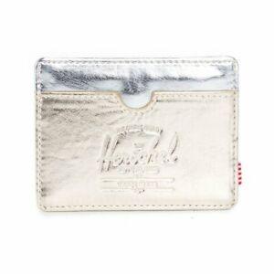 Herschel Charlie Gold/Silver Wallet Card Holder One Size Unisex Brand New