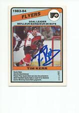 TIM KERR Autographed Signed 1984-85 OPC Leaders card Philadelphia Flyers COA