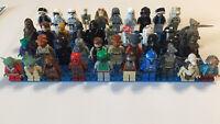 Lego Lot of 4 RANDOM Star Wars Minifigures Stormtrooper Yoda OVER 75 FIGURES!