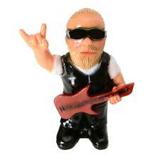 Gartenzwerg Rocker Cavin mit Gitarre Gartenfigur Garten Zwerg Heavy Metal