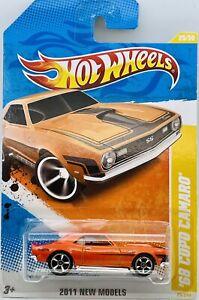 2011 Hot Wheels Orange 1968 COPO Camaro New Models Series 25/50 Card # 25/244