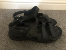 Ecco Black Leather Sandals Summer Shoes Size 37 4