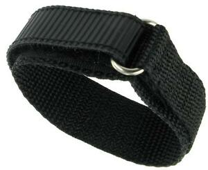 24mm standard length Premium Nylon Sports Watch Band Dive Surf Tuff Black NEW
