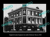 OLD LARGE HISTORIC PHOTO DEPTFORD LONDON ENGLAND THE CHICHESTER TAVERN c1930