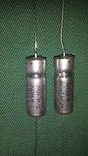 2 pieces Mil-Spec Sprague M39006/25-0088 82uF 125V Wet Tantalum Capacitors