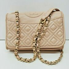 Tory Burch Pink Quilted Leather Chain Strap Cross body Purse