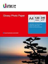 High Glossy Photo Paper A4 Inkjet Photography Paper 120 Sheets 240Gsm  Inkjet